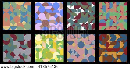 Squares Mosaic Abstract. Brochure Creative Design. Geometric Art. Vector Cover. Stock Image.