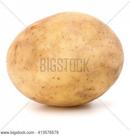 new potato tuber isolated over white background cutout