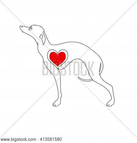 Hound. Hand Drawn Illustration Isolated On White, Logo, T-shirt Design