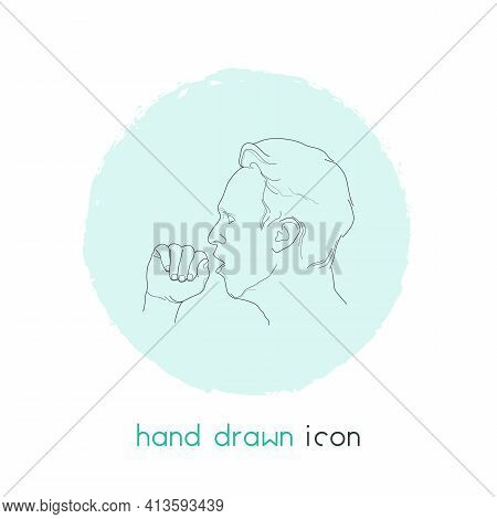 Cough Icon Line Element. Vector Illustration Of Cough Icon Line Isolated On Clean Background For You