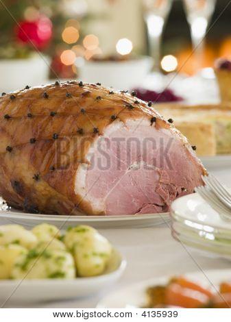 Honey Roasted Ham Boxing Day Buffet