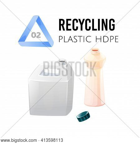 Recycle And Reuse. Garbage Sorting, Hdpe Plastic