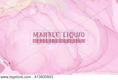 Chic Elegant Background. Liquid Marble Stone. Abstract Luxury Banner. Fluid Pattern. Rose Elegant Ba