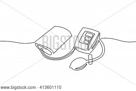 3d Low Poly Electronic Medical Tonometer For Measuring Blood Pressure. Medical Healthcare Check Up A