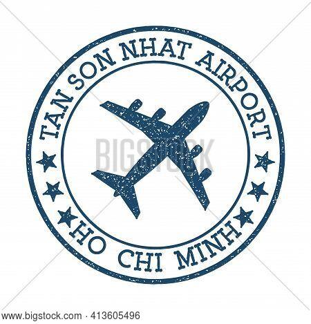 Tan Son Nhat Airport Ho Chi Minh Logo. Airport Stamp Vector Illustration. Ho Chi Minh City Aerodrome