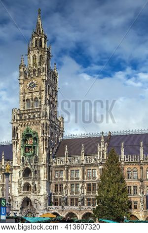 New Town Hall Is A Town Hall At The Northern Part Of Marienplatz In Munich, Bavaria, Germany.