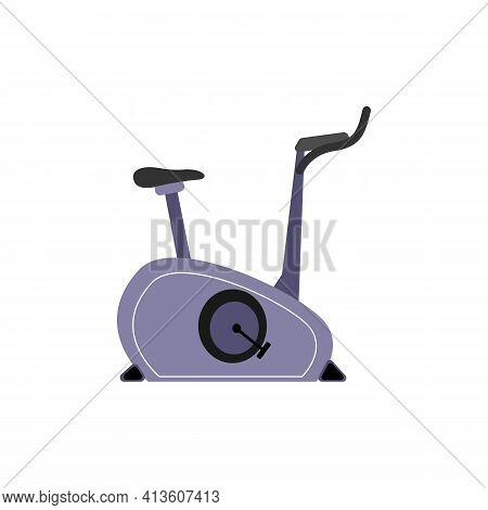 Stationary Exercise Bike, Equipment For Sports Clubs And Gyms.
