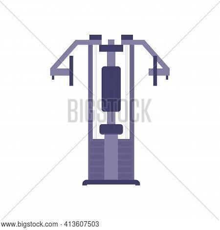 Gym Sport Facility For Fitness Club, Cartoon Vector Illustration Isolated.