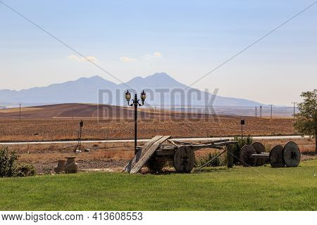 Central Anatolia, Turkey - October 3, 2020: This Is The Countryside And The Extinct Former Volcano K