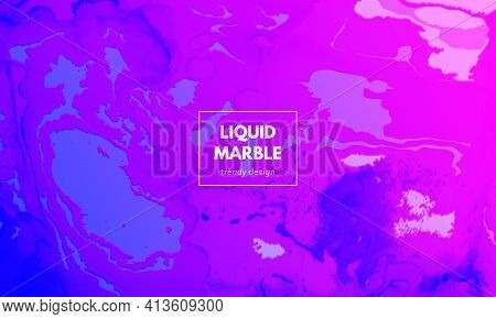 Abstract Fluid. Purple Pink Gradient Motion. Minimal Liquid Layout. Alcohol Inks Paint Template. Cre