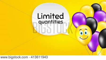 Limited Quantities Symbol. Special Offer Sign. Vector