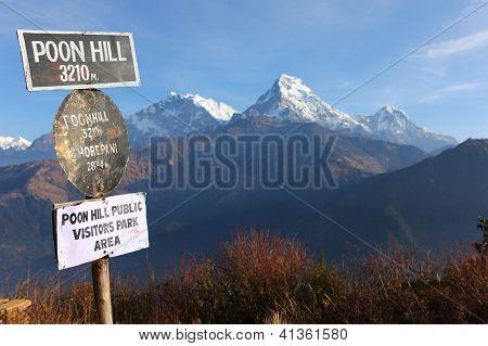 schöne Aussicht auf Annapurna Range, Berge Himalaya, nepal