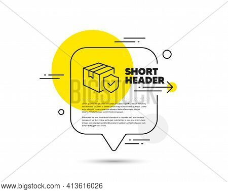 Parcel Insurance Line Icon. Risk Coverage Sign. Vector