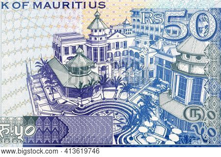 Le Caudan Building Complex From Mauritian Money