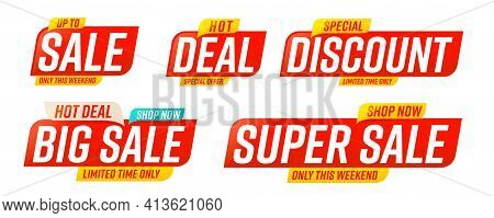 Big Or Super Sale, Deal, Discount Special Offer Template. Limited Time Proposition To Buy With Cheap