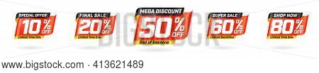 Special Offer, Final Sale Marketing Promotion Material. Limited Time Only Mega Discount, Super Sale