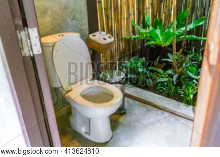 Abstract blur  Toilet in in nature