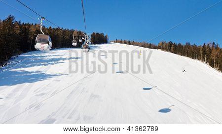 Ski Lift In South Tyrol