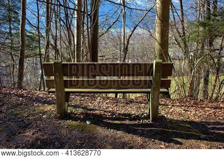 Place To Relax In A Forest In Vaduz In Liechtenstein 17.2.2021