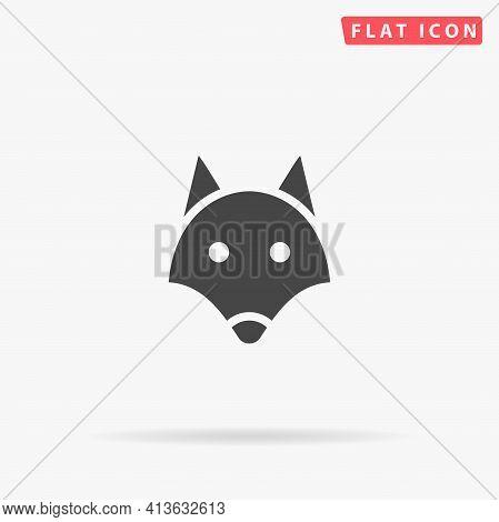 Fox Head Flat Vector Icon. Hand Drawn Style Design Illustrations.