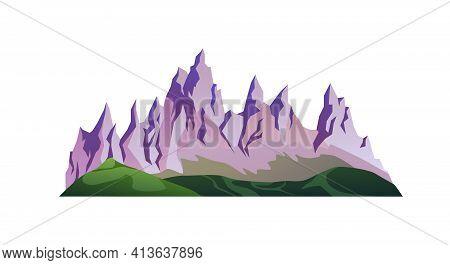 Shark Peaks Of Rocky Mountains, Green Grass Hills