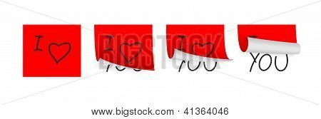 Valentine Adhesive Papers