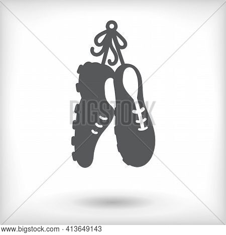 Trainers Shoes Isolated On White Background With Vignette Effect. Vector Illustration