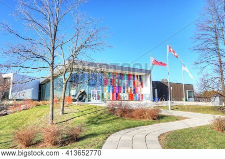 Kitchener, Ontario, Canada - November 6: A View Of Waterloo Region Museum  On [november 6, 2020] In
