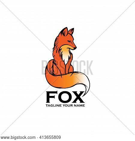 Fox Animal Design Logo Vector. Fox Animal Vector.