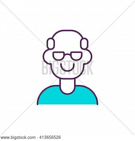 Healthy Ageing Rgb Color Icon. Older Person. Physical, Mental Abilities Maintenance. Grandparent. Se