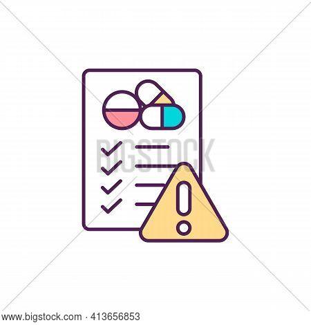 Antibiotics Misuse Rgb Color Icon. Drugs Overuse. Self-medication. Drug Development. Antibiotic Resi