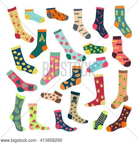 Textile Socks. Underwear Clothes For Feet Comfort Woolen Stylish Knitted Comfortable Socks Recent Ve
