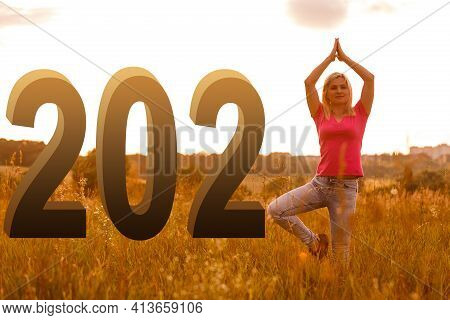 2021 Happy New Year Silhouette Of Number Newyear Concept