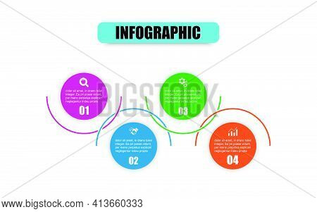 Vector Circle Design Template Infographic For Illustration. Timeline Infographic Template Of Cycle D