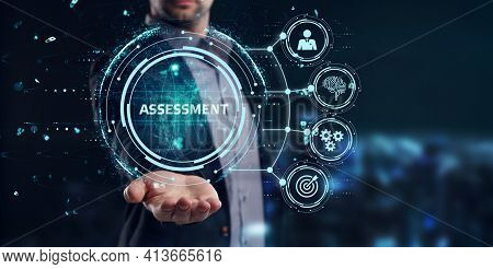 Business, Technology, Internet And Network Concept. Assessment Analysis Evaluation Measure.