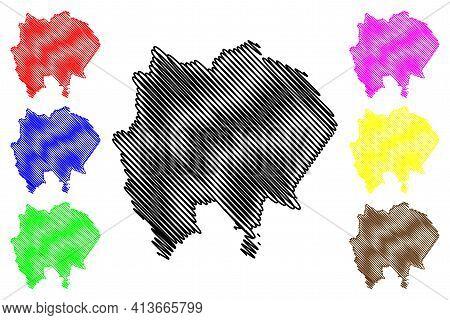 Gezira State (republic Of The Sudan, North Sudan) Map Vector Illustration, Scribble Sketch Al Jazira