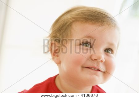 Baby Indoors Smiling