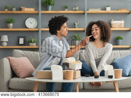 Fun Together, Dinner At Home And Food Delivery, Date