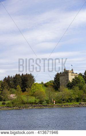 East Kilbride, South Lanarkshire, Scotland, Uk - May 13, 2019: Mains Castle In East Kilbride, South