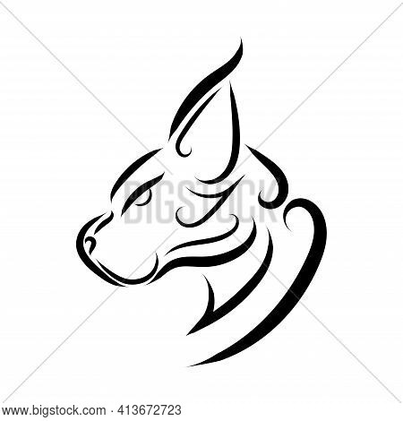 Black And White Line Art Of Wildcat Head. Good Use For Symbol, Mascot, Icon, Avatar, Tattoo, T Shirt