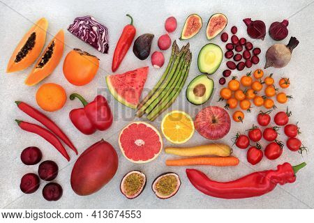 Plant based fruit and vegetables high in lycopene for a healthy heart with foods high in antioxidants, anthocyanins, vitamins, omega 3, minerals and dietary fibre. Ethical eating for a healthy planet.