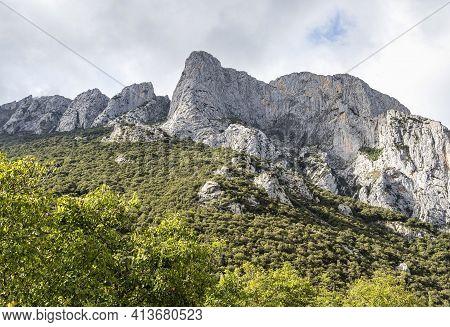 Fuente De In The In Mountains Of Picos De Europa, Cantabria, Spain. In The Heart Of The Picos De Eur