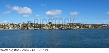 Corona del Mar, California seen from West Jetty View Park on the Balboa Peninsula.