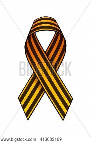 May 9. Happy Victory Day. Saint George Ribbon. Greeting Card, Poster, Banner Vector Illustration