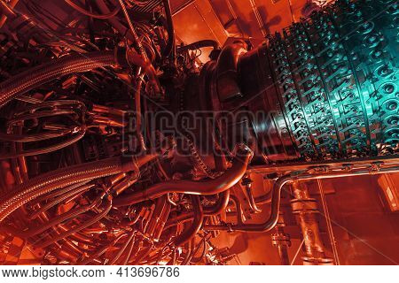 Gas Turbine Engine Of Feed Gas Compressor Located Inside Pressurized Enclosure, The Gas Turbine Engi