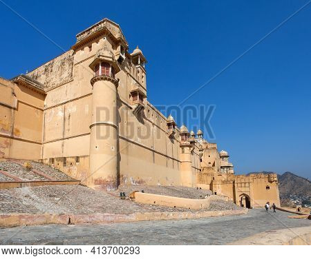 Amber Fort Near Jaipur City,  One From The Best Historic Fortress In Rajasthan Near Jaipur City, Ind
