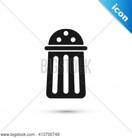 Grey Salt Icon Isolated On White Background. Cooking . Vector