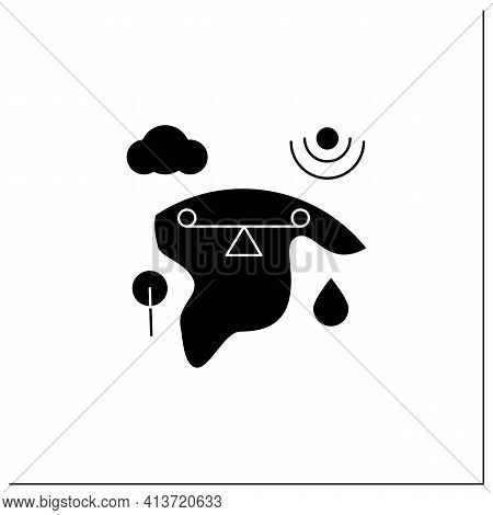 Ecosystem Balance Glyph Icon.requires Sustainable Interdependence Of Plants, Animals, Organism With