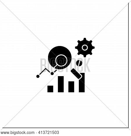 Measurement Analytics Glyph Icon.combines Measurement Science And Validity Theory, Using Big Data, A