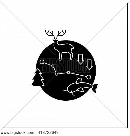 Biodiversity Glyph Icon.variety, Life Variability On Earth. Different Animals, Plants Kinds. Underwa